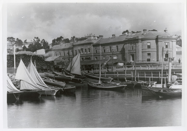 Photograph - Hobart wharves showing Fisherman's Dock, Parliament House and wool yards in front