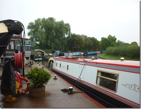 2 refuelling at streethay wharf in the rain