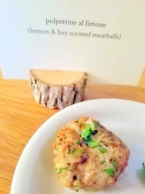 Meadowlark PDX Apericena: A Springtime Sicilian Cocktail Party, polpettine al limone, lemon and bay scented meatballs