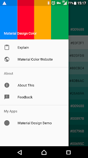 Material Design Color Screenshot