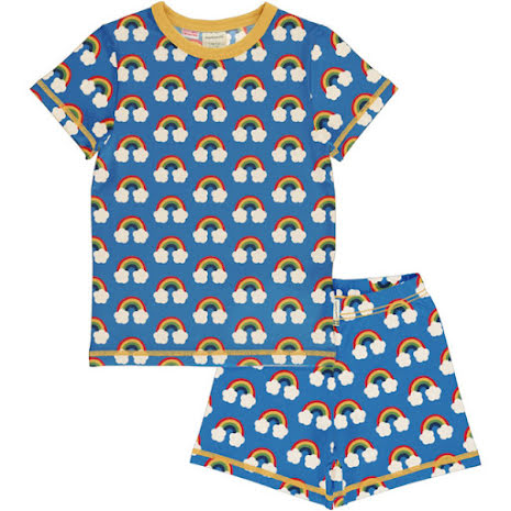 Maxomorra Pyjamas Set SS Rainbow