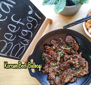 Korean Beef Bulbogi resep
