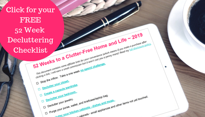 Send the 52-Week Decluttering Checklist!