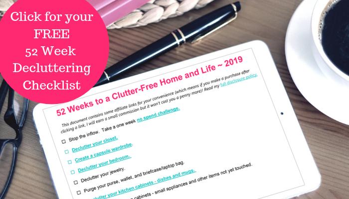 Send the 52-Week Decluttering Checklist!