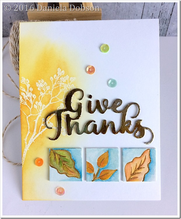 Give thanks by Daniela Dobson