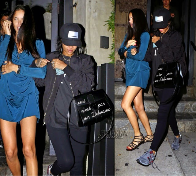 Rihanna in Pigalle, New Balance, Delvaux