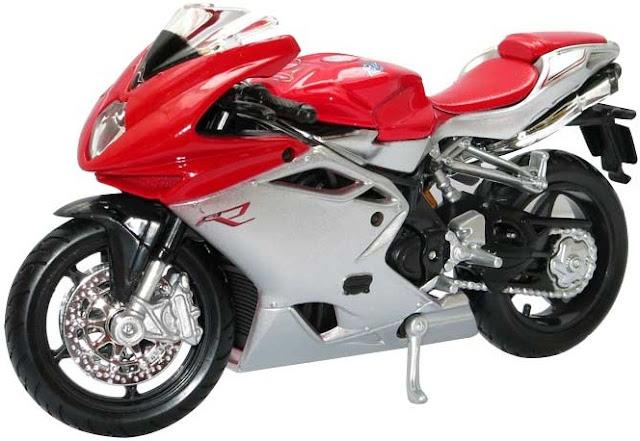 Đồ chơi mô hình xe máy MV Agusta F4 màu đỏ BBurago tỷ lệ 1:18