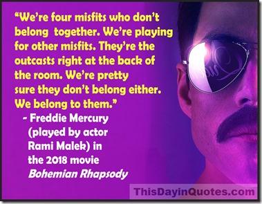 Bohemian Rhapsody misfits quote