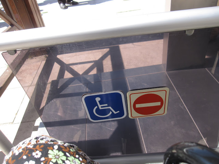 Handicap gate to Pamukkale