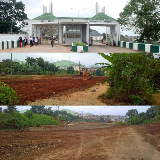 Work Resumes At The Link Road Construction From IMSU Back-Gate (Photos)