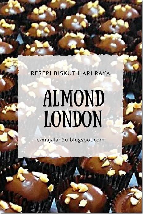 resepi-kuih-biskut-almond-london-sukatan-cawan-mudah