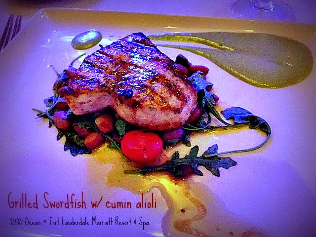 Grilled swordfish at 3030 Ocean, Fort Lauderdale
