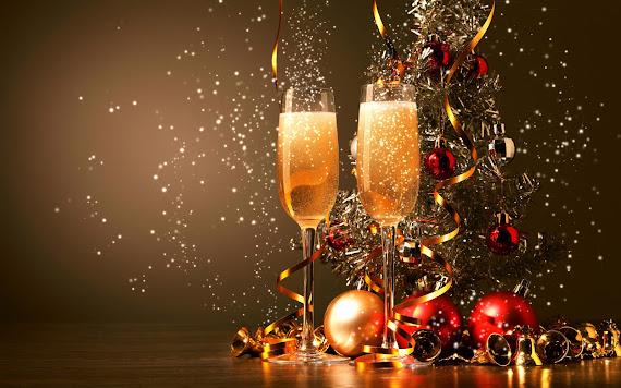 besplatne Božićne pozadine za desktop 1680x1050 free download blagdani Merry Christmas šampanjac