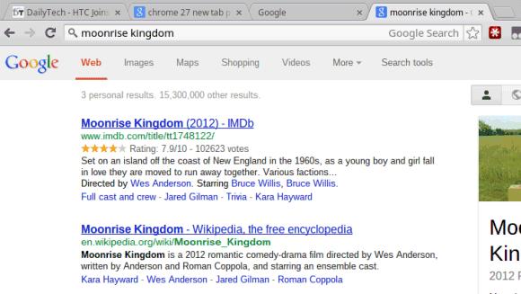 Google Search ohne Suchfeld