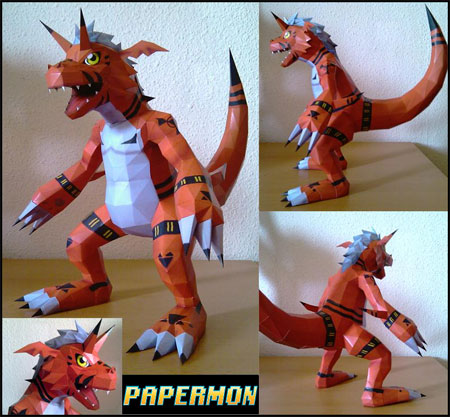 Digimon Growlmon Papercraft