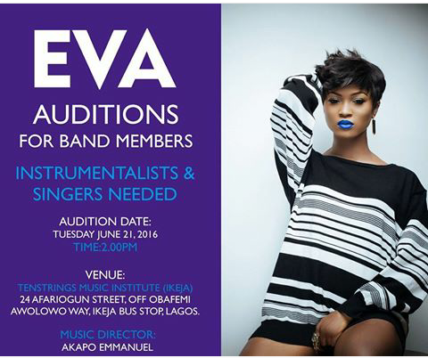 Eva auditions for band members (instrumentalists and singers )