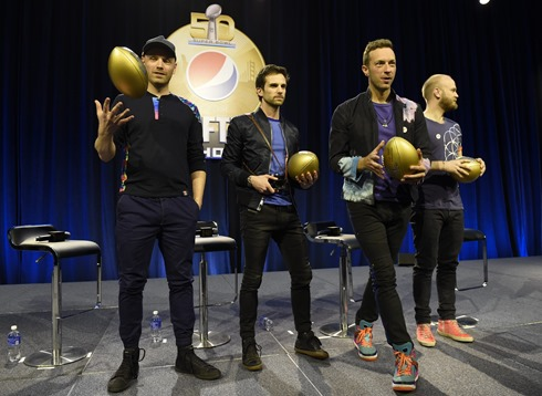 superbowl coldplay