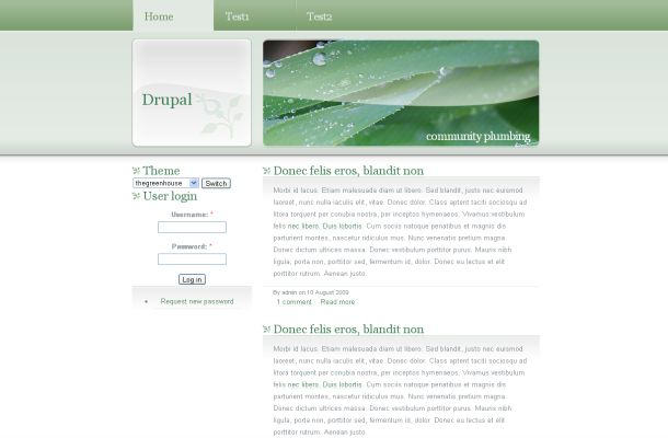 Ecology Nature Green White Drupal Theme Template