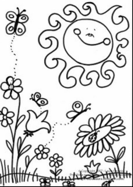 Good Spring Coloring Pages Large Images With Spring Coloring Pages And Spring  Coloring Pages For Adults