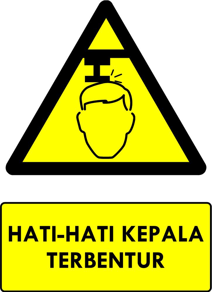 Rambu Bahaya Kepala Terbentur