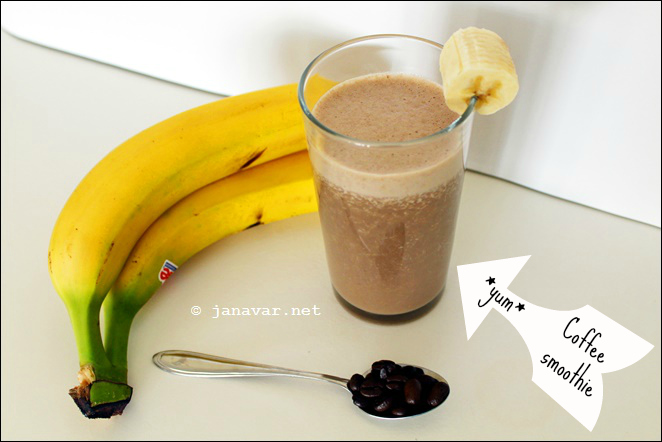 My 7 favorite summer recipes - Coffee banana smoothie