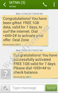 How to Get MTN 1 GB Data Free