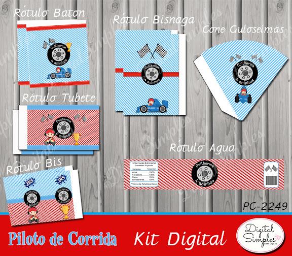 Kit Digital Piloto de Corrida  .....artesdigitalsimples@gmail.com