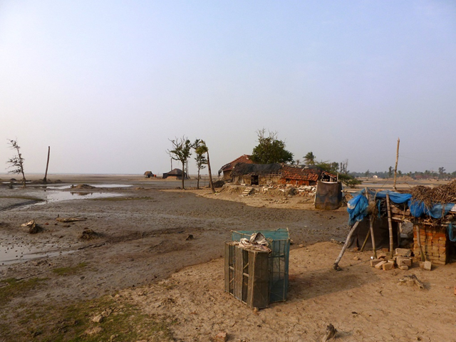 Sagar Island is steadily losing land mass to the sea. Photo: Soumya Sarkar
