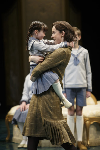 Zoë Brown (left) as Gretl von Trapp and Stephanie Rothenberg as Maria Rainer in The Sound of Music. Photography by David Hou.