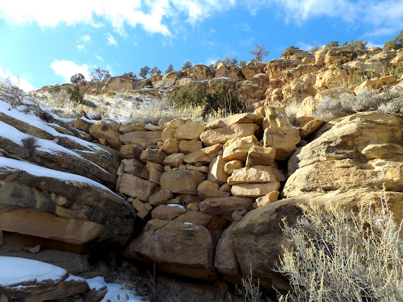 Fill for the original 1886 road through Nine Mile Canyon
