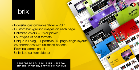 Themeforest Brix - Premium Theme for Blog/Portfolio/Creative v1.4