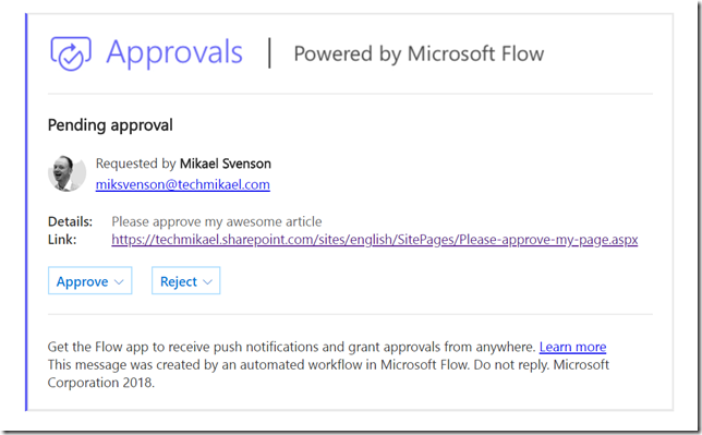 Tech and me: Use Microsoft Flow to implement approval of
