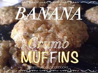 Banana Crumb Muffins ~ source:tammycookblogsbooks