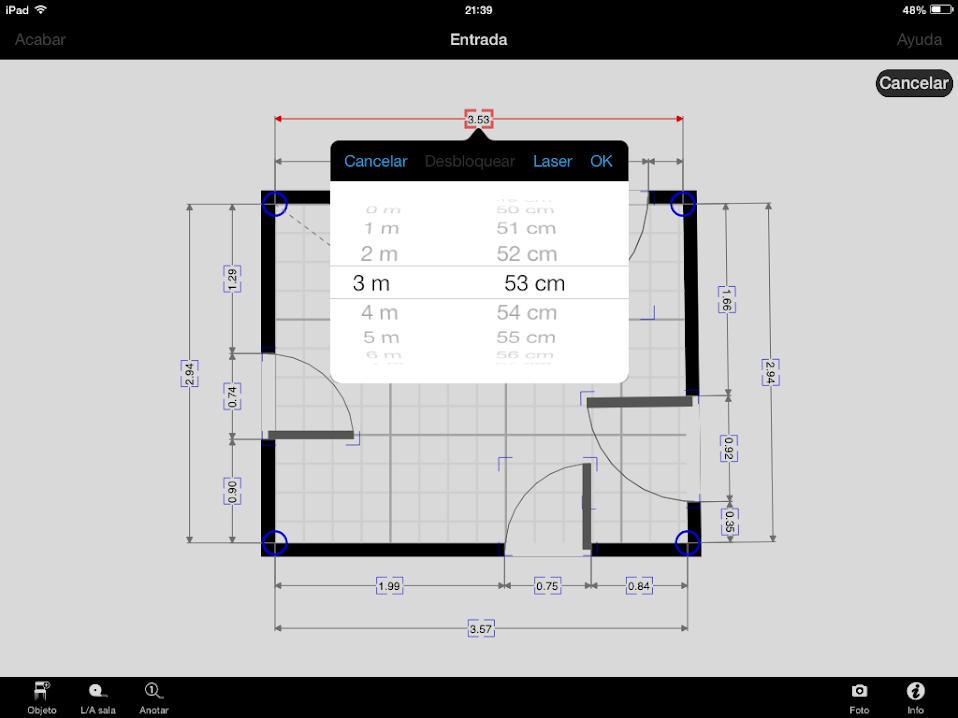 Apps de Construcción | Modificar las cotas con MagicPlan
