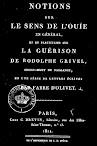 Notions sur le Sens de L'Ouie (1811,in French)