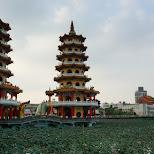 dragon and tiger pagodas at lotus pond in Kaohsiung, Taiwan in Kaohsiung, Kao-hsiung city, Taiwan