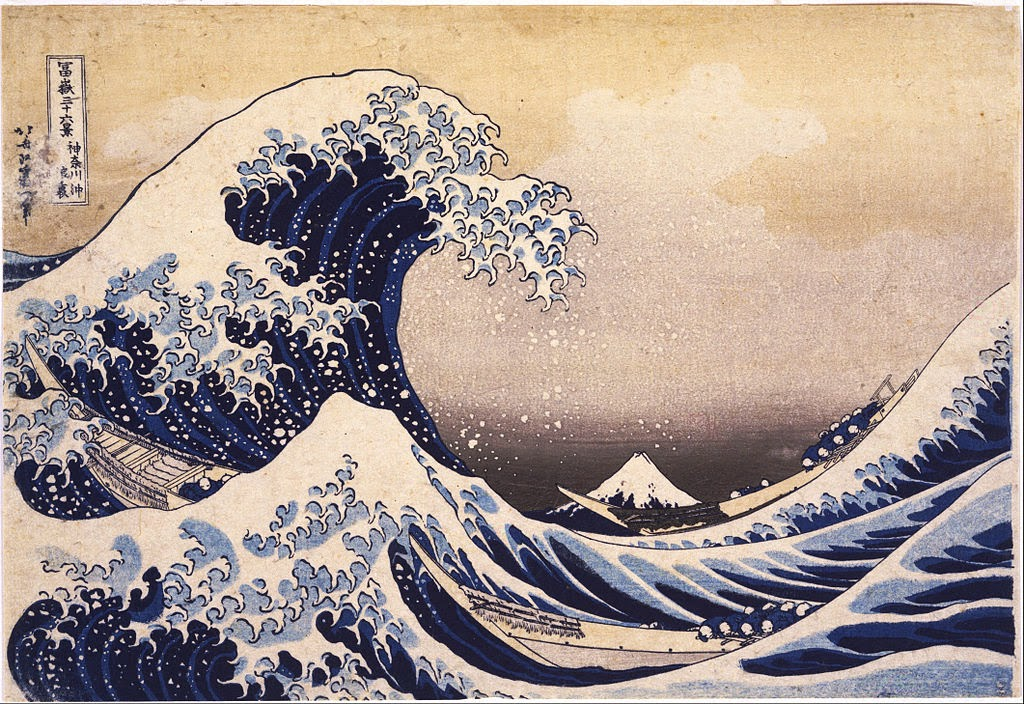 Katsushika Hokusai - Thirty-Six Views of Mount Fuji- The Great Wave Off the Coast of Kanagawa