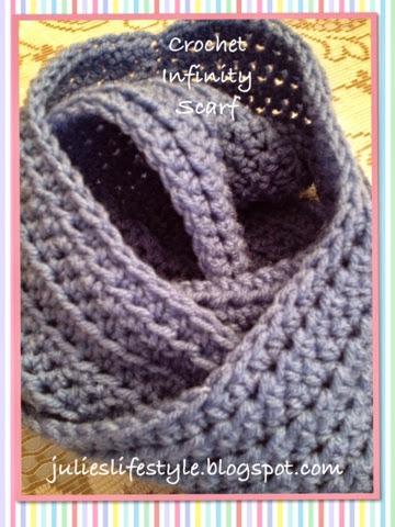 {walker whimsy}: Crochet Infinity Scarf {POTM}
