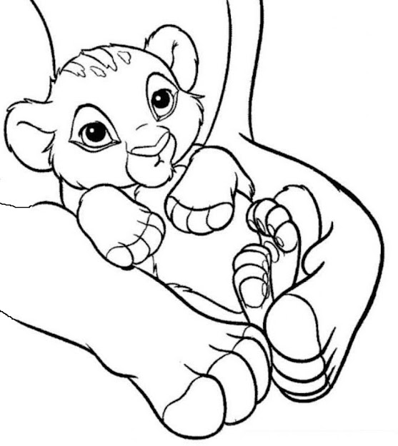 Baby Simba The Lion King Coloring Pages For Kids  Printable Lions And  Tigers Coloring Pages For Kids