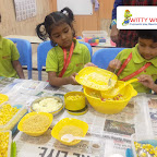 Cooking Experience - Corn Bhel Activity by Jr.KG Section (2018-19), Witty World ,Goregaon East