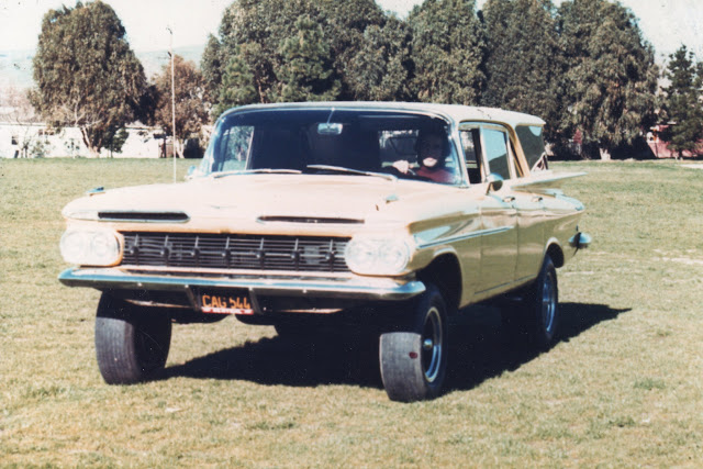 "Built in late 60's by Al's Automotive in Brisbane, it was ""all jacked up!"" 10"" over stock."