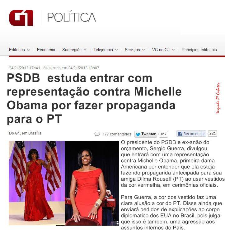 'Esquadrão da moda' tucano em ação contra a cor vermelha ...