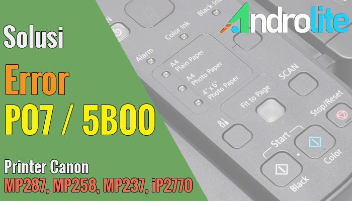 Cara Reset Canon MP287 MP258 MP237 iP2770