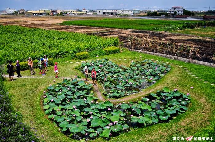 平和社區雙心池塘