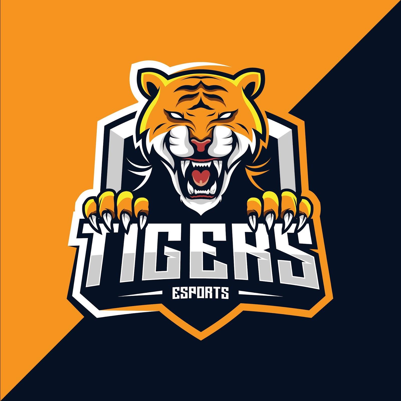 Tiger Mascot Esport Logo Design Free Download Vector CDR, AI, EPS and PNG Formats