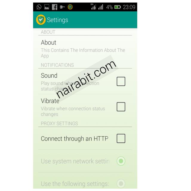 Airtel 0.0kobo Unlimited Free Browsing Tweakware settings 2
