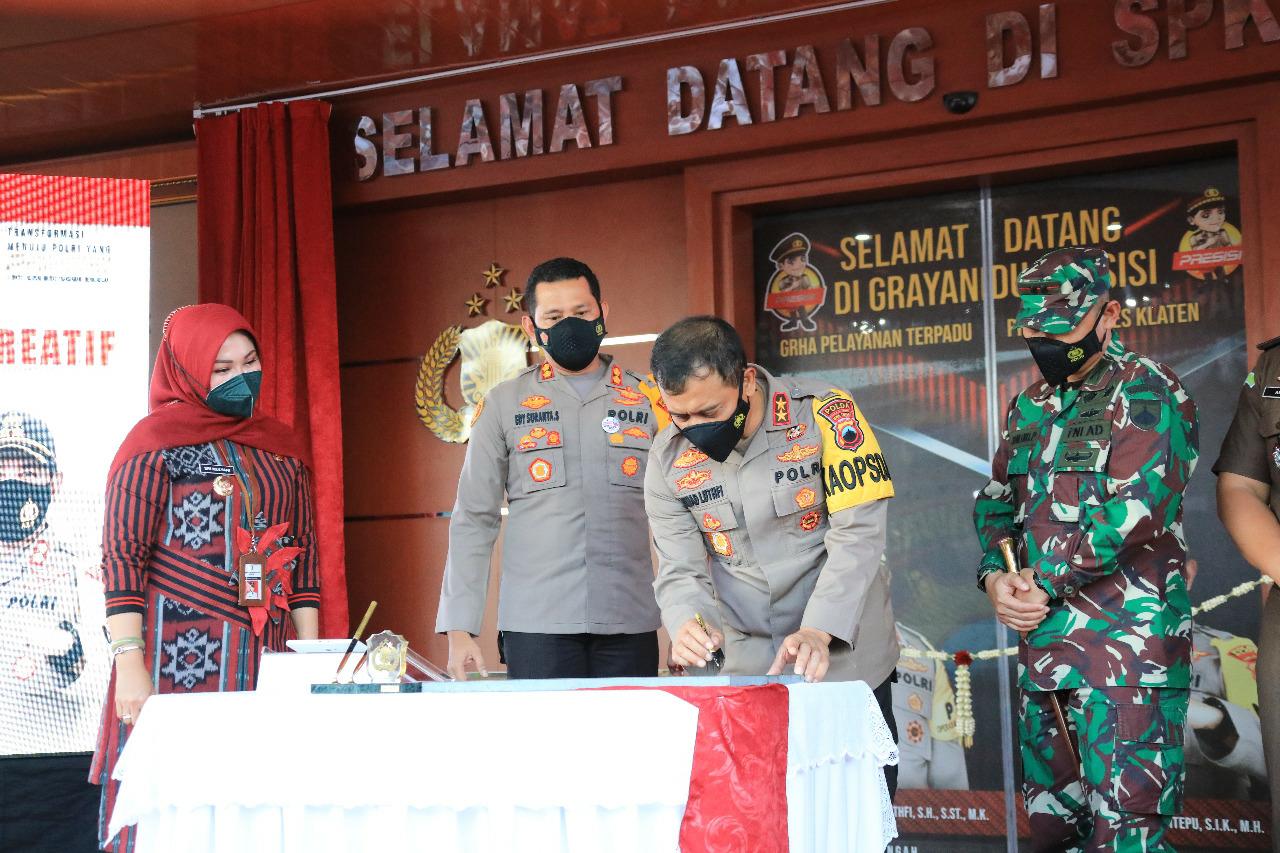Kapolda Jateng Resmikan Gedung Grha Pelayanan Terpadu Presisi Polres Klaten