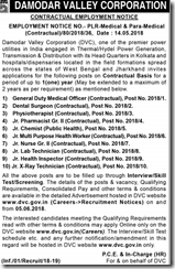 DVC Constractual Employment Notice 2018 indgovtjobs