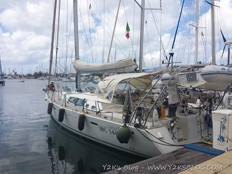 Y2K ormeggiata a Marine La Royale - St. Marteen
