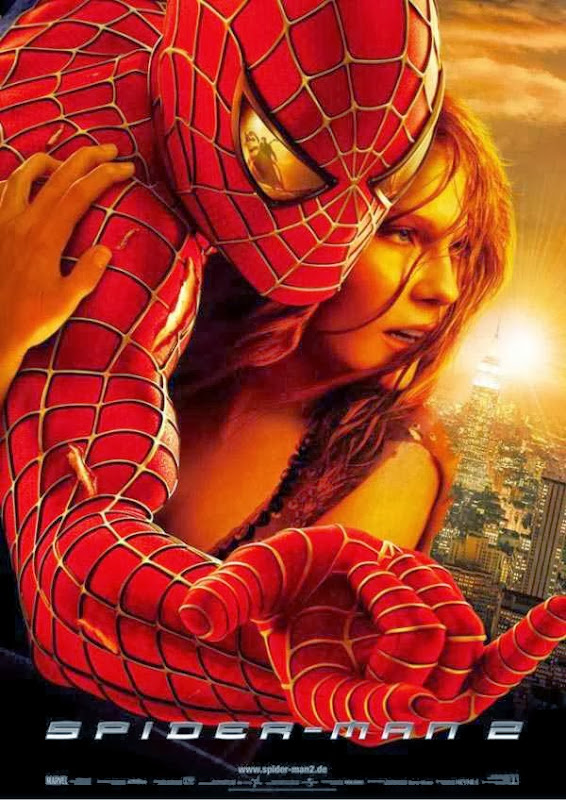Poster Of Spiderman 2 (2004) Full Movie Hindi Dubbed Free Download Watch Online At Alldownloads4u.Com
